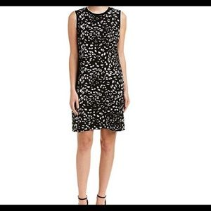 Vince Camuto sleeveless animal whispers dress